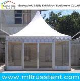 5x5m Malaisie Temple tente de jardin en verre