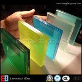 Claro e colorido de vidro temperado laminado com CE, ISO 9001