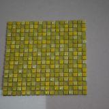 Mosaico de cristal amarillo hermoso, azulejo de mosaico de cristal de la fábrica para la pared