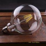 Branco morno fresco do estilo retro do globo do bulbo G125 do filamento do diodo emissor de luz