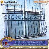 鉄の塀の鋼鉄窓の格子