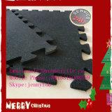 Stuoia di collegamento della gomma di ginnastica della casa di forma fisica riciclata puzzle di gomma delle mattonelle di pavimentazione di ginnastica