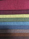 100%poliéster tejido de lino falsos sofá