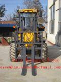 Dwars Diesel van het Land van de Vorkheftruck DwarsVorkheftruck