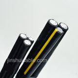 Среднее напряжение тока, алюминиевый изолированный проводник, XLPE, PVC обшитый силовой кабель