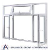 Il lato di alluminio ha appeso la finestra di alluminio della stoffa per tendine della finestra