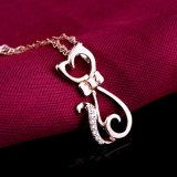 Qualidade superior Real 925 Sterling Silver Pendant Necklace Personalidade Moda Cute Small Cat Pendant Fine Jewelry Wholesale