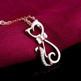 Hochwertige reale Halsketten-Funktionseigenschaft-Form-nette kleine Katze-hängender feiner Schmucksache-Großverkauf des Sterlingsilber-925 hängende