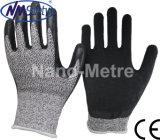 Разрез с покрытием из латекса Nmsafety устойчивые перчатки