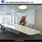 Design moderne en marbre artificiel en acrylique solide en pierre de taille Corian White Conference Table Chair