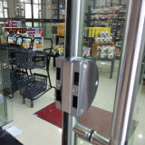 Portes d'oscillation de Frameless de qualité les doubles avec Tublar traite K08004