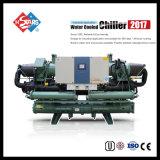 Refroidisseur d'eau refroidi à l'eau de vis d'Indsutrial avec la reprise de chaleur