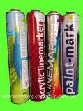 Latas de lata de aerossol para spray de marcador de linha (750ml de alta pressão)