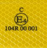Cinta reflexiva clara ECE104 del animal doméstico para los colores blancos amarillos rojos de los vehículos