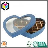 Rectángulo de regalo rígido del papel de la cartulina de la ventana de la dimensión de una variable clara del corazón