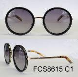De modieuze Ronde Zonnebril van Eyewear van de Acetaat van de Vorm (FDA van Ce)