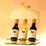Estante de visualización de acrílico tablero del vino con los vidrios Btr-D2129