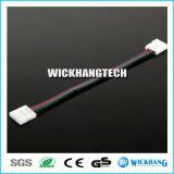 10mm 4 Speld Twee Schakelaar met Kabel voor Licht van de LEIDENE SMD 5050 RGB Strook
