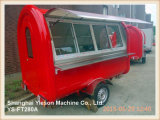 Ys-FT280A Red Multifunction Fast Food Trailer avec fenêtre coulissante