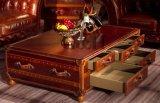 De Bruine Koffietafel op wielen van de Staaf van de Boomstam van het Leer