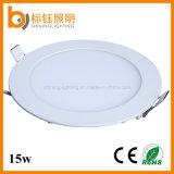 Luz de interior redonda de la lámpara del techo del panel de AC85-265V CRI>85 15W LED