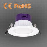 90 mm Recorte PC LED Downlight con el ajuste extraíble, OEM / ODM