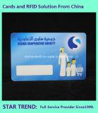 Cartão do membro do privilégio feito do plástico com listra magnética (ISO 7811)