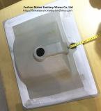 Тазик ванной комнаты тонкого квадрата шкафа края керамический (60E)