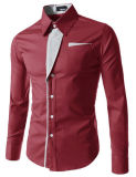 2017 Nieuw Toevallig Van het Bedrijfs overhemd van de Mensen van Overhemden lang-Sleeved Toevallig Slank Geschikt Mannelijk Overhemd