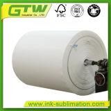 Papel de sublimação rápida de 70GSM de revestimento leve para impressora de jato de tinta de grande formato