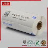 Roulis adhésif de papier thermosensible