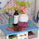 Розовая симпатичная воспитательная деревянная игрушка для подарка малыша