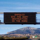 Étalage changeable de VMs de message de couleur de véhicule, panneau programmable extérieur de poteau de signalisation de DEL