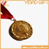 Customed recto couleur Or avec cordon médaillon pièce de sport/Médaille (YB-HR-49)