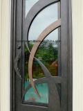 Portas de entrada de ferro decorativas americanas artesanais feitas à mão