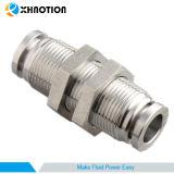 Xhnotion Empurrar-em-à-Coneta o encaixe com o anteparo de alta pressão da união