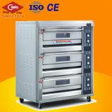 Geräten-kommerzielle elektrische Ofen-Backen-Maschine 3 Tellersegment-Deck/6 bietende