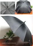 ゴルフ傘を広告しているエヴァ