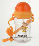 Plastik 350ml, der rote Farben-Wasser-Flasche für Kind-Baby führt