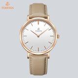 Relógio colorido 71287 das mulheres da promoção da cinta de couro do vestido da moda do seletor do relógio de quartzo de Japão Movt do relógio de pulso das senhoras da forma