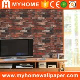 Precio de China la decoración del hogar 3D de papel de pared de piedra con ancho de 1,06m de ancho.