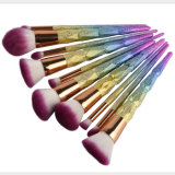 2017 Professional 10pcs Rainbow Unicorn Pinceaux de maquillage Set