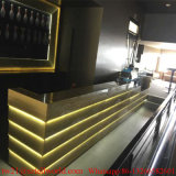En forma de U Iluminación LED Nightclub Muebles Moderno Vino Bar Counter Design Drinks Bar