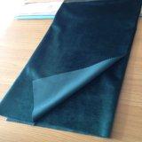 Покрашенная равниной ткань бархата зеленого цвета супер мягкая