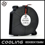ventilador del ventilador del centrífugo del flujo 6015 del ventilador del ventilador de la C.C. de 60X60X15m m 12V 24V 60m m alto