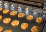 Lopende band voor de Cakes die van Koekjes Machine verwerken