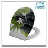 Schöner gedruckter Muster-Harnstoff-Toiletten-Sitzdeckel