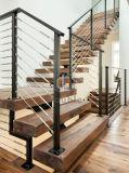 Escalera de acero con madera Escalera de la banda de rodadura