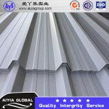 上塗を施してある屋根のシートによって波形を付けられる鋼鉄コイルSGCCを着色しなさい