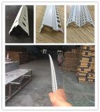 Cordão de canto de plástico para parede estucagem tradicional